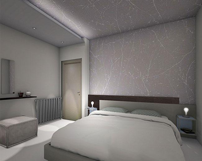 Una camera da letto intima e accogliente