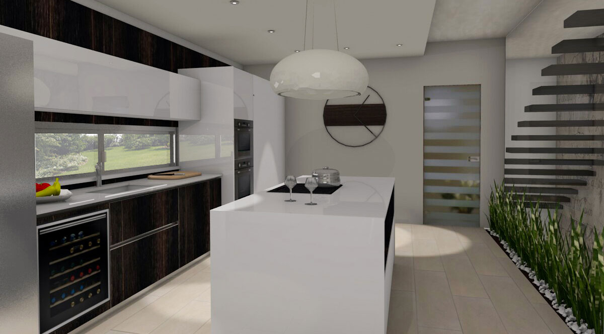 Progettazione cucina e zona living a Caserta